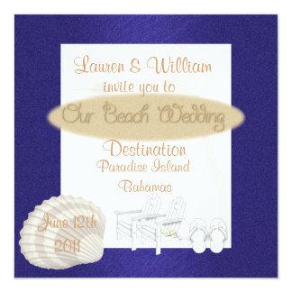 Destination Beach Wedding Invitations Template