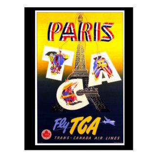 Destination Paris Vertical Postcard