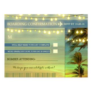 Destination Wedding RSVP postcards