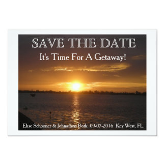 Destination wedding save the date. 13 cm x 18 cm invitation card