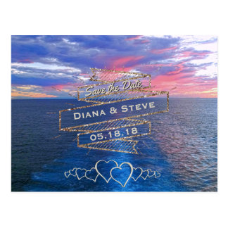 Destination Wedding Save the Date | Tropical Ocean Postcard
