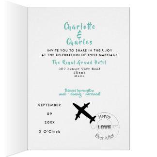 Destination Weddings Abroad Photo Passport Invite