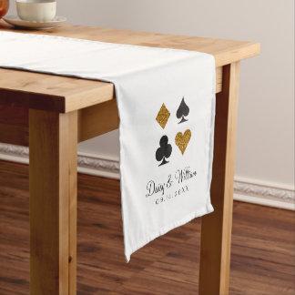 Destiny Las Vegas Gold Black White Reception Long Table Runner