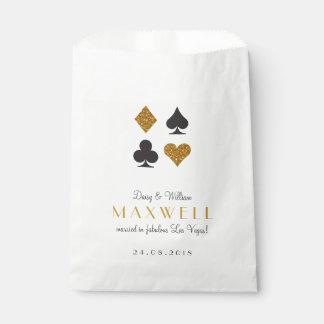 Destiny Las Vegas Wedding Gold Glitter Favor Bag Favour Bags