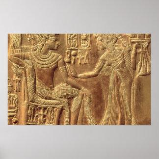 Detail from the Golden Shrine of Tutankhamun Poster