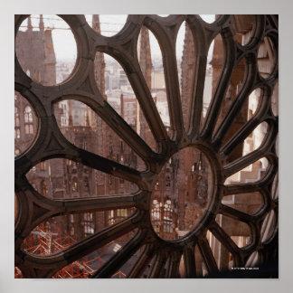 Detail of La Sagrada Familia, Barcelona, Spain Poster
