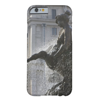 detail of lady and swan on the fountain of the barely there iPhone 6 case