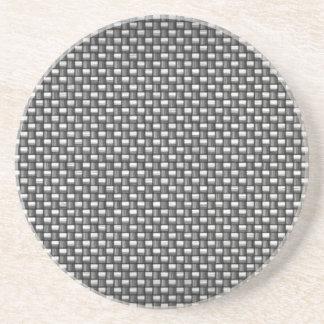 Detailed Carbon Fiber Textured Coaster