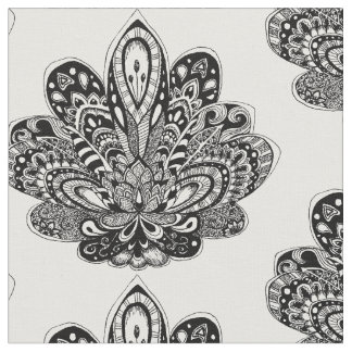 Detailed zendoodle Lotus Fabric