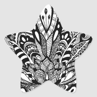 Detailed zendoodle Lotus Star Sticker