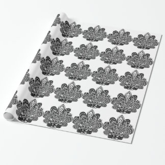 Detailed zendoodle Lotus Wrapping Paper
