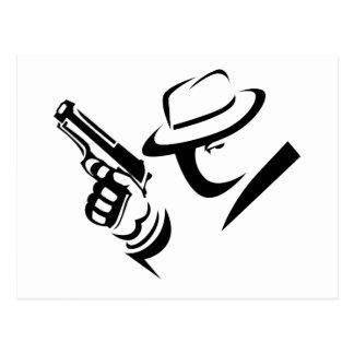 Detective Mobster Postcard