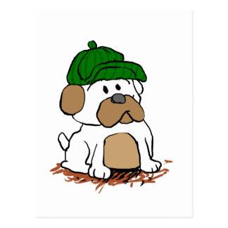 Detective  pug postcard