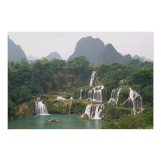 Detian Waterfall, China Framed Photo Print