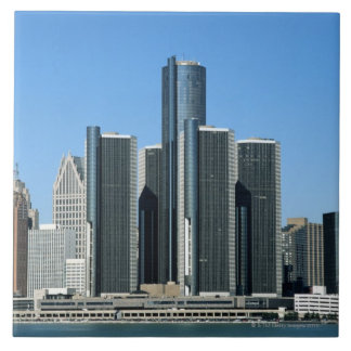 Detroit Skyline 4 Tile