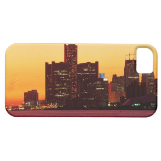 Detroit skyline in colorful sunset iPhone 5 cover