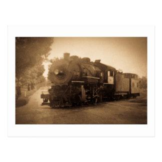 Detroit Terminal Railroad Engine at Adrian MI Postcard