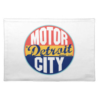 Detroit Vintage Label Placemat