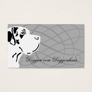 Deutsche Dogge Visitenkarte