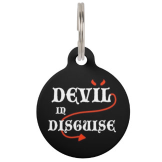 Devil in Disguise Pet ID Tag