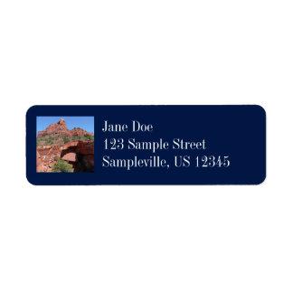Devil's Kitchen in Sedona Arizona Return Address Label
