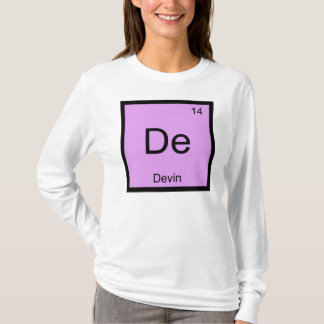 Devin Name Chemistry Element Periodic Table T-Shirt
