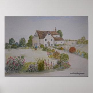 Devon Cottage Poster