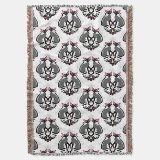Devon Rex Damask Throw Blanket