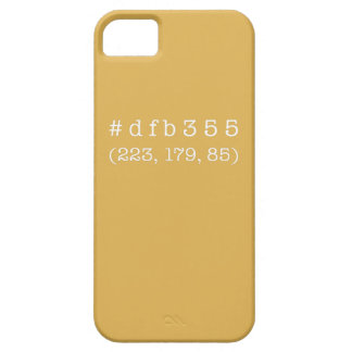 #dfb355 iPhone 5/5s, Barely There (White text) iPhone 5 Cover