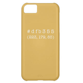 #dfb355 iPhone 5c, Barely There (White text) iPhone 5C Case