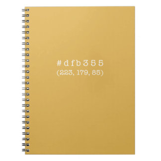 #dfb355 Notebook, 80 Pages (White text) Spiral Notebook