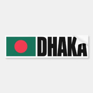 Dhaka Bangladesh Flag Bumper Sticker
