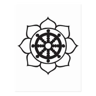 Dharma Wheel Lotus Postcard