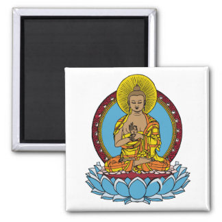 Dharmachakra Buddha Square Magnet