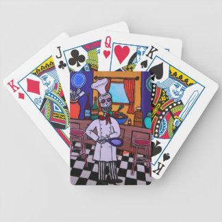 Dia de los Muertos Chef Bicycle Playing Cards