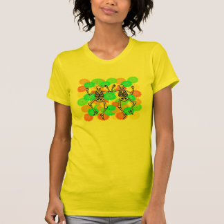 Dia De Los Muertos Festive Happy Skeletons T-Shirt