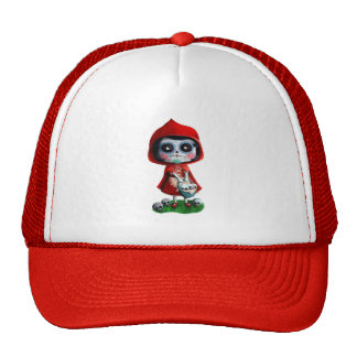 Dia de los Muertos Little Red Riding Hood Cap