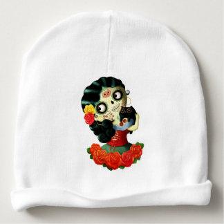 Dia de Los Muertos Lovely Mexican Catrina Girl Baby Beanie