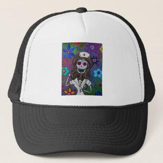 Dia de los Muertos Nurse RN Trucker Hat