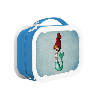 Dia de Los Muertos Shy Mermaid Lunch Box