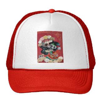 Dia de Los Muertos Skeletons Mother and Daughter Trucker Hat
