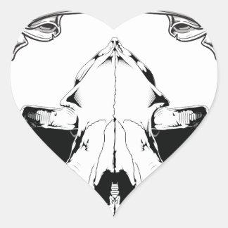 Dia De Los Perros Heart Sticker