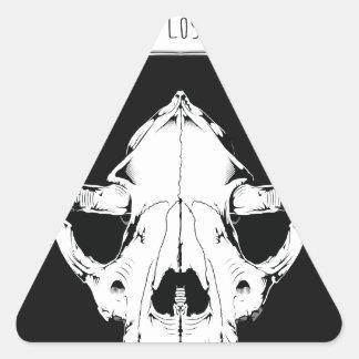 Dia De Los Perros Triangle Sticker