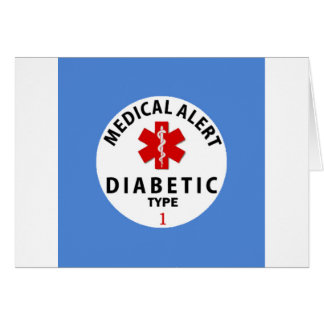 DIABETIES TYPE 1 CARD