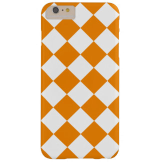 Diag Checkered Large - White and Tangerine Barely There iPhone 6 Plus Case