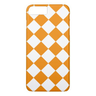 Diag Checkered Large - White and Tangerine iPhone 7 Plus Case