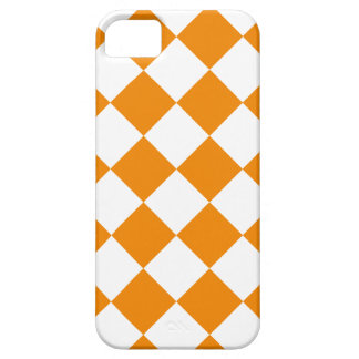 Diag Checkered - White and Tangerine Case For The iPhone 5
