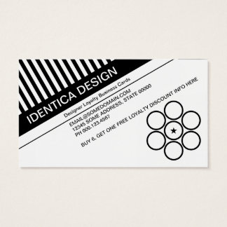 diagonal blinds loyalty punch business card