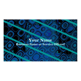 Diagonal Blues Abstract Pattern Pack Of Standard Business Cards