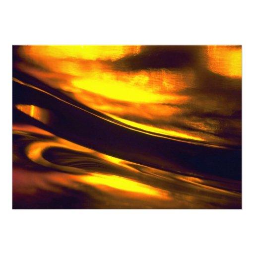 Diagonal golden flame announcement